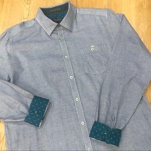 Ted Baker London 100% Cotton Blue Button Down